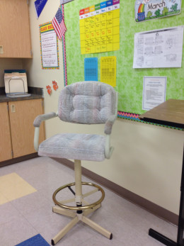 A single comfy chair that swivels can be just the thinking space a child needs to process information.