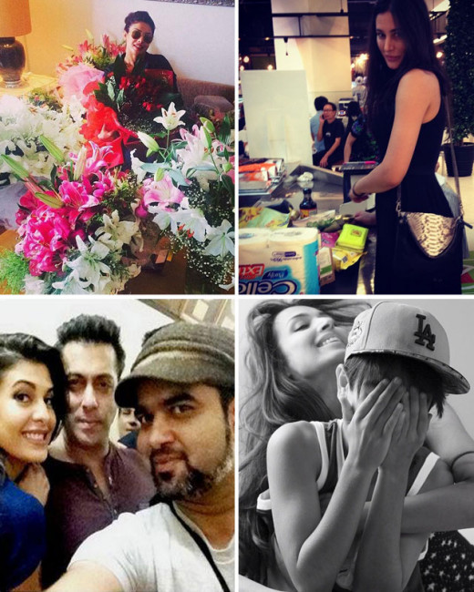 We got our hands on some instagram photos of bollywood celebrities like Sonam Kapoor, Jacqueline Fernandez, Priyanka Chopra, Nargis Fakhri and many more. Here's a look: