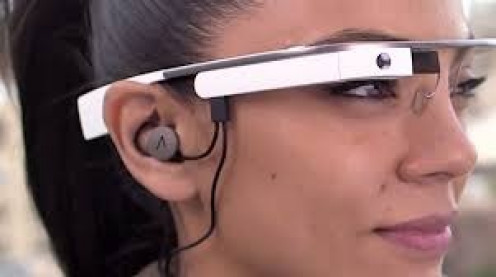 An optional ear piece allows you to hear music and communicate with the voice system in Google Glass.