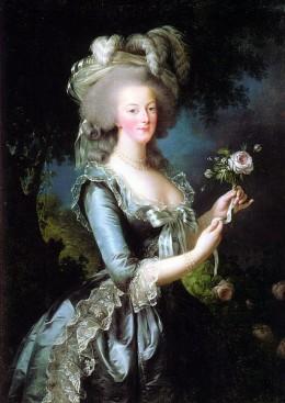 Marie Antoinette à la Rose, by Élisabeth Vigée-Lebrun (1783)