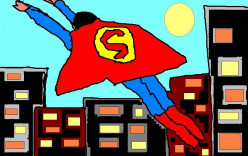 There was also the first of the American superheroes - Superman.