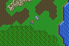 Overworld of Final Fantasy V (GBA version)