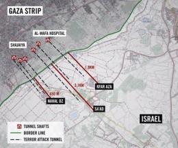 Hamas tunnels begin near civilian buildings