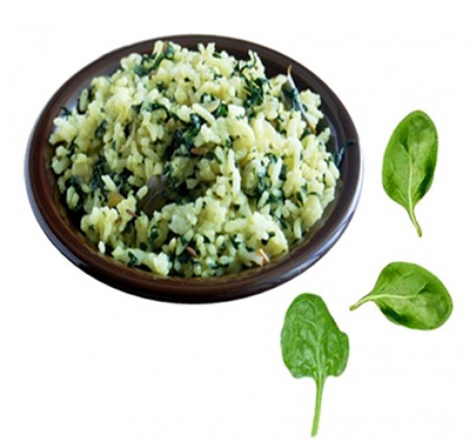 Palak or Spinach Rice