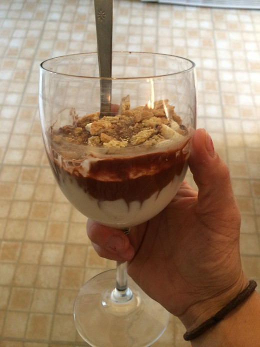 Classy Homemade Froyo in a Wine Glass.