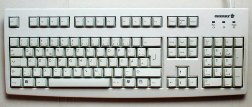 Cherry keyboard with German layout. 105 keys.