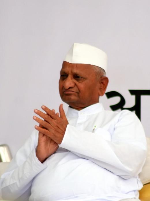 Anna Hazare's last fast at Jantar Mantar