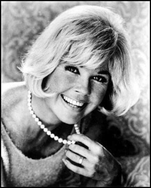 Black and Whit Photo of Doris Day.