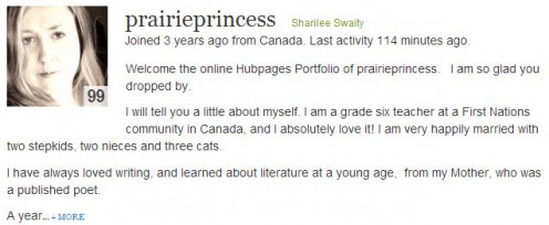 Screen shot of author Sharilee Swaity