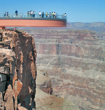 The Skywalk in the Grand Canyon West area.