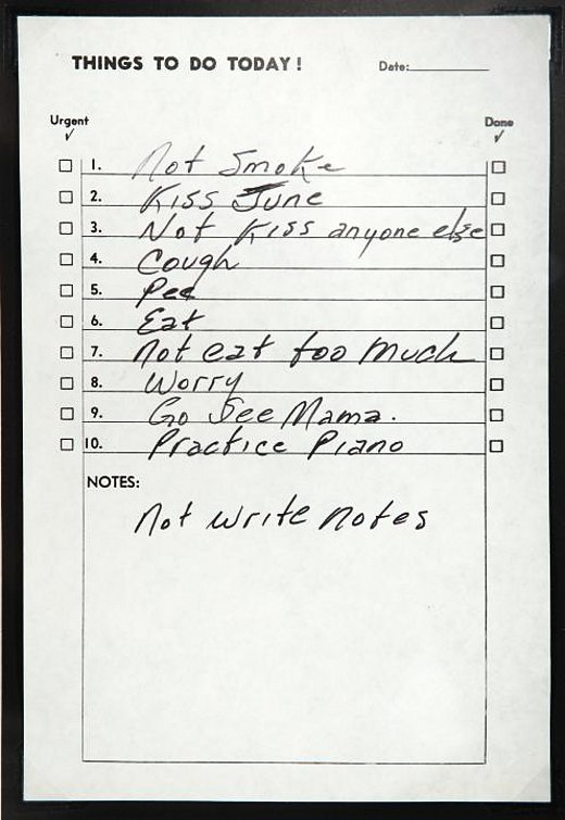 We get ideas from everywhere. Johnny Cash's list is where Shaun Usher got his idea for his website, and later his book.