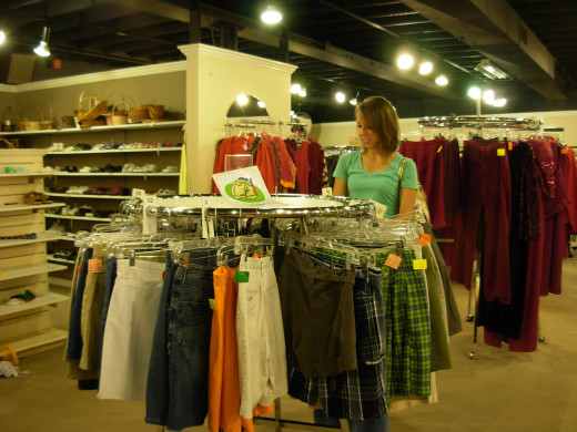 Clothes are a standard item found at thrift stores