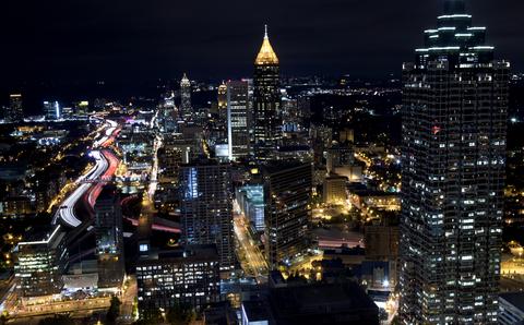 Skyline of Atlanta at night