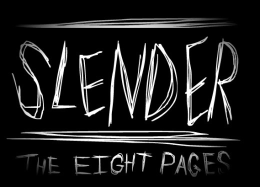 "Official logo for ""Slender: the Eight Pages."""