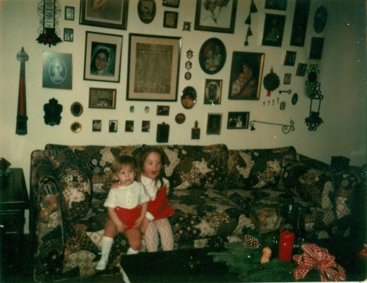 1976. One of my attempts to fill a huge wall above the sofa.