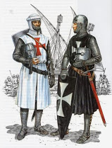 Templar and Hospitallier standing together