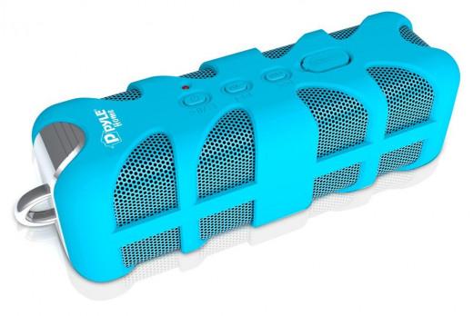 Pyle PWPBT60 Marine Grade, Rugged, Portable, Splash-Proof, Waterproof wireless bluetooth shower speaker (Blue)