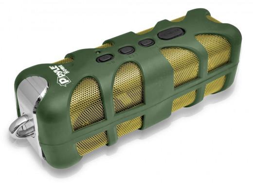Pyle PWPBT60 Marine Grade, Rugged, Portable, Splash-Proof, Waterproof wireless bluetooth shower speaker (Green)