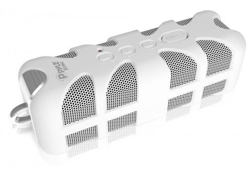 Pyle PWPBT60 Marine Grade, Rugged, Portable, Splash-Proof, Waterproof wireless bluetooth shower speaker (White)