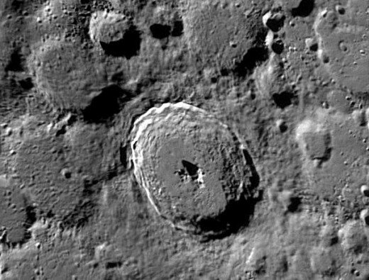 What is this? Is it an unusual structure on the moon?