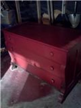 The old red chest, our flagship piece.