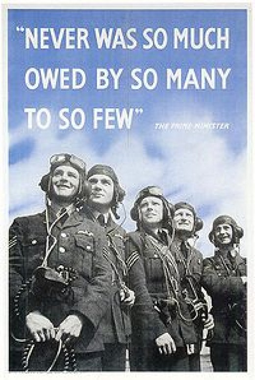 Royal Air Force poster, quoting Winston Churchill