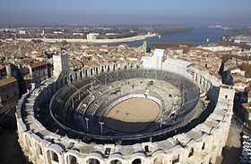 Amphitheatre where Christian adherents were being tortured by fighting wild animals
