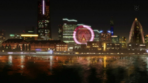 Eden of the East animation, set in Odaiba, Tokyo, or possibly Yokohama.