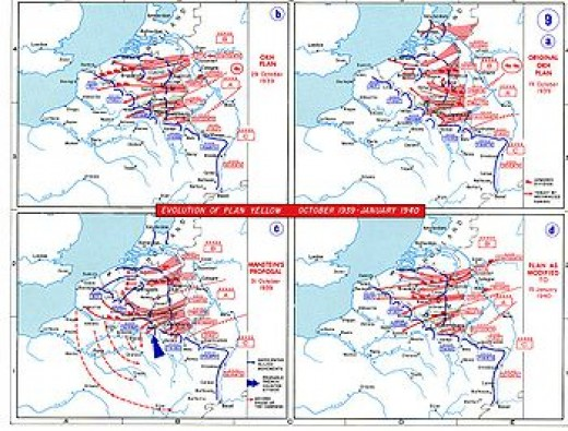 Invasion plan for the Low Countries