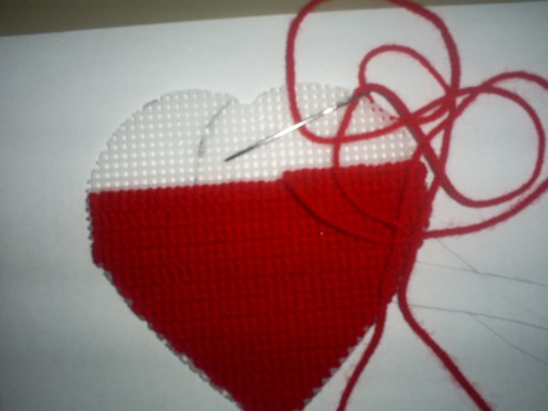 Rather would cross stitch a heart than go with a cheapskate on a blind date.