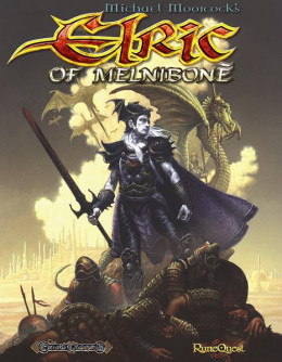 Cover art of Runequest featuring Elric.