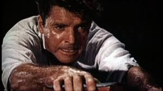 "A legend of the big screen, Burt Lancaster, in the role of ""Elmer Gantry,"" a motion picture made from the novel by Sinclair Lewis."