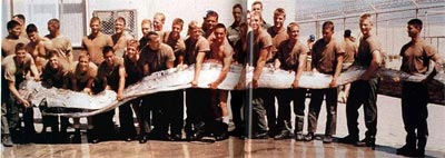 A 23-foot long oarfish found dead by the U.S. Military in 1996