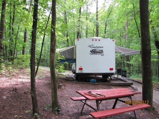 Lots of room to spread out at the campsite...