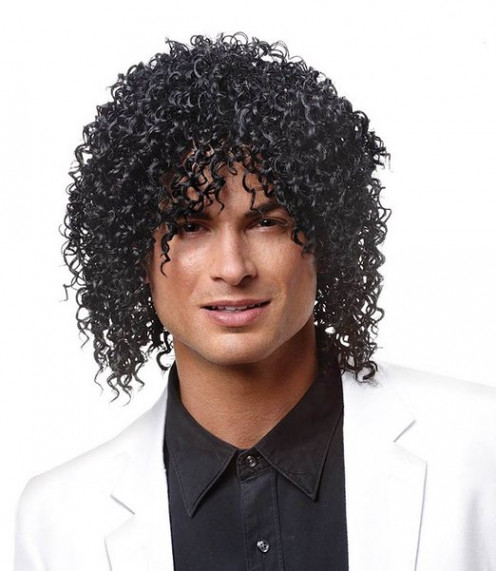 Deluxe Black Shabba Wig - Adult Std.