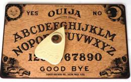 Ouija boards, talking boards, or spirit boards, are most often a flat boards.