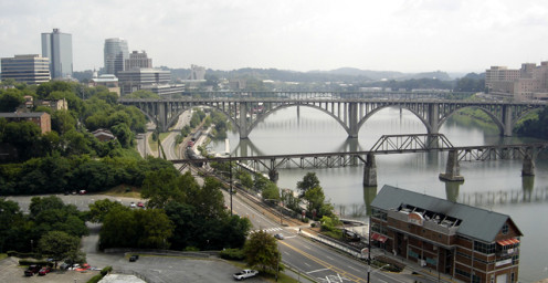 Bridges across the Tennessee river at Knoxville.