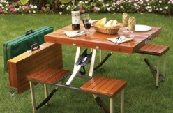 Portable Folding Picnic Table With Bag