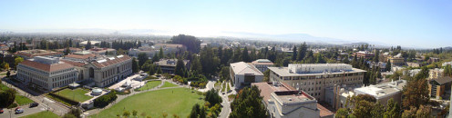 A panoramic view of UC Berkeley, a top 20 school for both national ranking and number of international students.