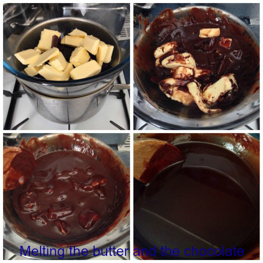 Stages of Melting The Butter and Chocolate