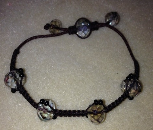 The finished bracelet.
