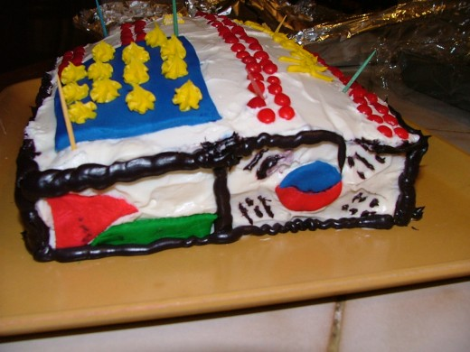 """International party calls for a """"flag cake"""" -- forgive yourself for mistakes!"""