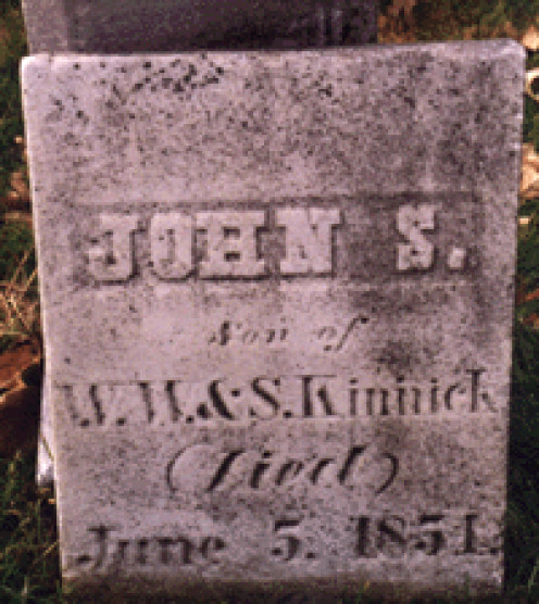 Tombstone of John S. Kinnick in the Forest Hill Cemetery of Wyanet, Illinois