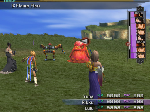 Combat in Final Fantasy X