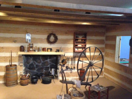 INSIDE OF LINCOLN'S CABIN