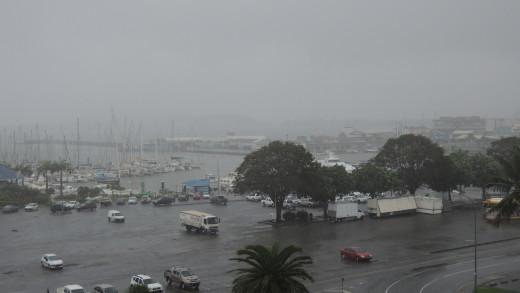 Noumea sous la pluie