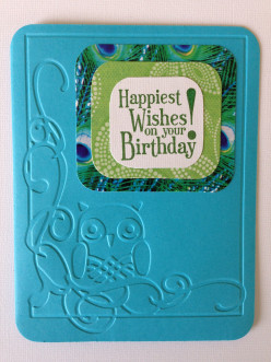 Easy to Make Embossed Owl Birthday Card