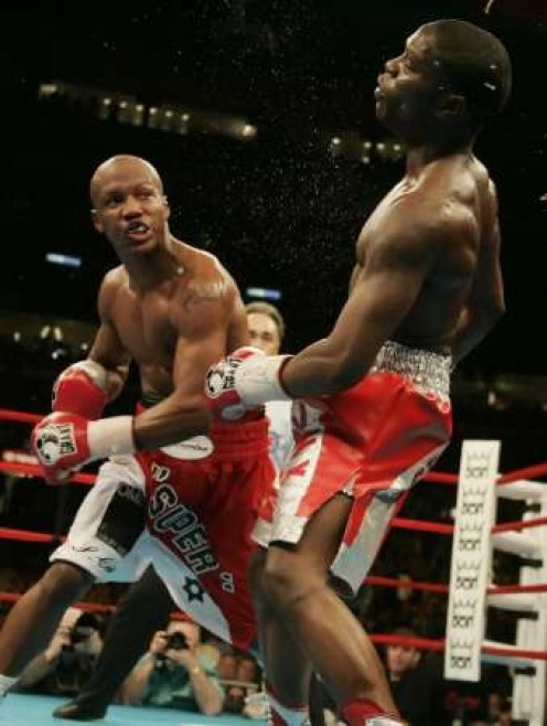 Boxer Zab Judah, seen here winning the welterweight title from Cory Spinks, has fought several times in Mississippi.