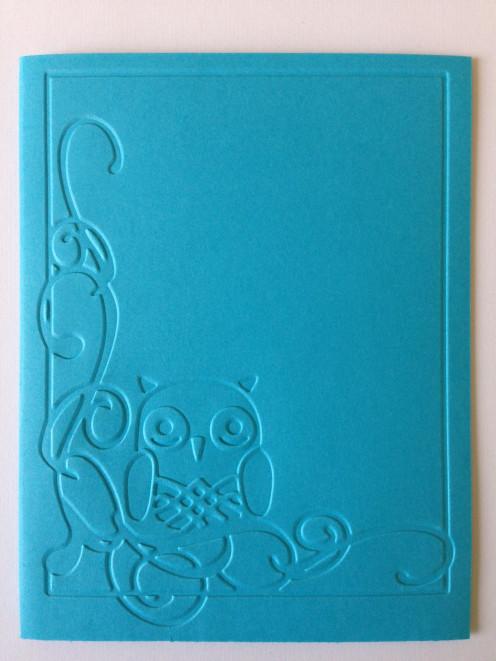 Cricut Owl Flourish Emboss Folder