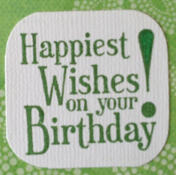 Stampin'Up Happy BIrthday acrylic stamp